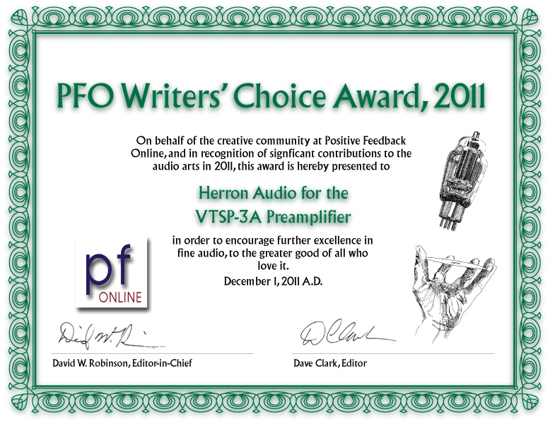 2011 Positive Feedback award